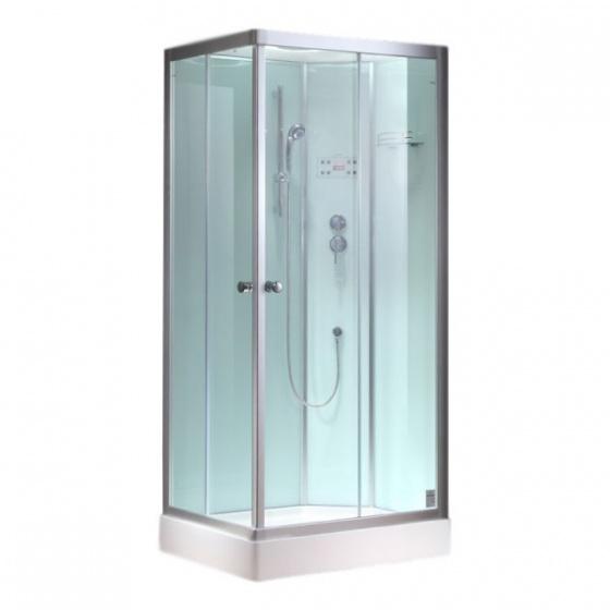 Eago geheel gesloten cabine 900 27gh wit 90 hoek - Italiaanse gesloten douche ...
