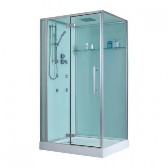 Eago douche d990 met douchebak wit 120x90 links - Italiaanse gesloten douche ...