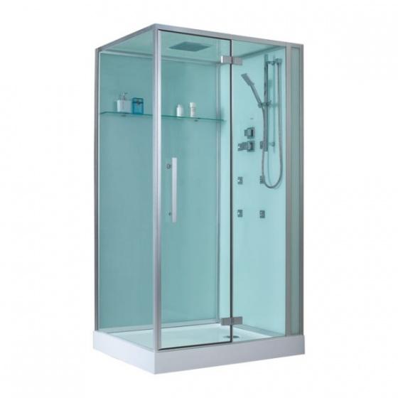 Eago douche d990 met douchebak wit 120x90 rechts - Italiaanse gesloten douche ...