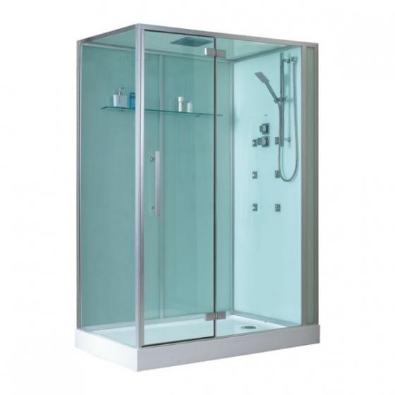 Eago douchecabine d991 met douchebak wit 150x90 rechts - Italiaanse gesloten douche ...