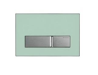 geberit sigma 50 afdekplaat 2 knops glas groen. Black Bedroom Furniture Sets. Home Design Ideas