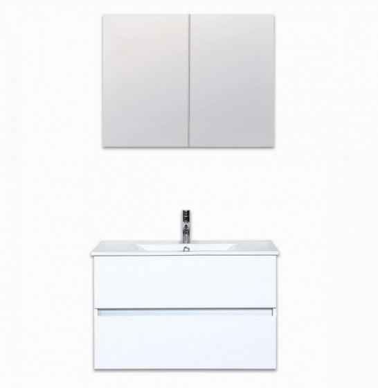 Lorencio badmeubelset 80 cm incl spiegelkast hornbad for Spiegelkast 80 cm