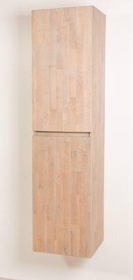 sanistar natural wood hoge kast 160cm massief hout grey wash, Badkamer