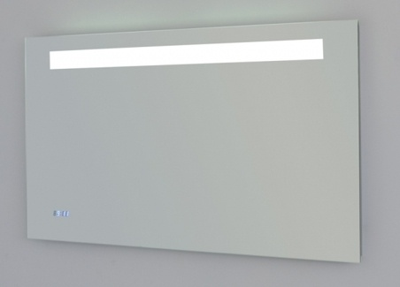 Spiegel met verlichting en klok 100 cm hornbad - Spiegel badkamer geintegreerde verlichting ...