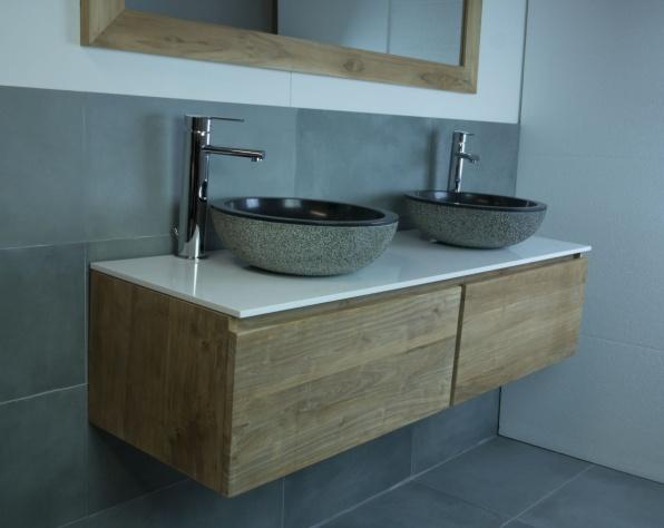 Badkamer onderkast hout badkamermeubel kopen tips en inspiratie badkamerkast ophangen u2013 - Houten meubels voor badkamers ...