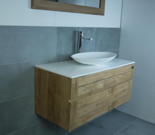 Teak Houten meubel Plate 60 - hornbad.nl