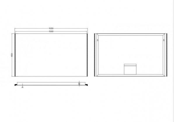 Wb duo led condensvrije spiegel 100x60 for Spiegel 100x60