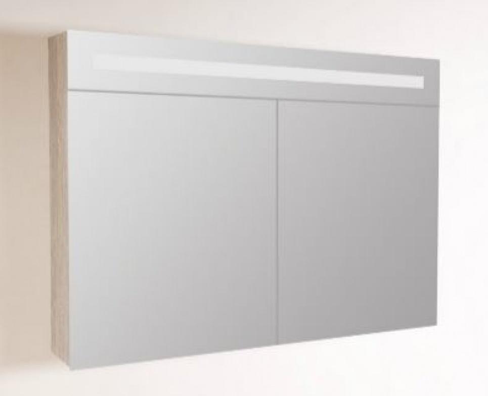 Spiegelkasten spiegel met verlichting spiegelverwarming en opbouwverlichting hornbad - Outs badkamer m ...