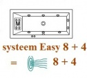 Whirlpool systeem Sanistar Easy 8 + 4