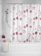 Douchegordijn Flower rood