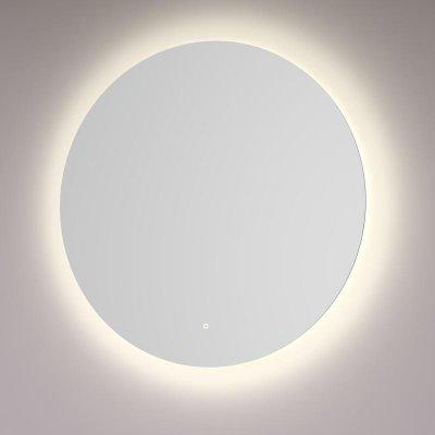 Uitzonderlijk HIPP ronde spiegel met indirecte LED verlichting rondom JO96