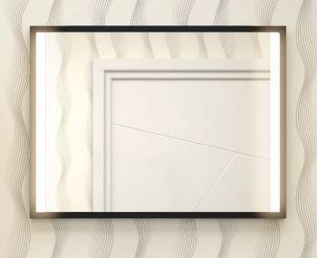 Spiegel Staand Zwart : Vince cm spiegel met verlichting en zwart frame