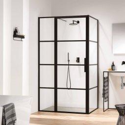 Douchecabine Black frame 100x100cm Swiss