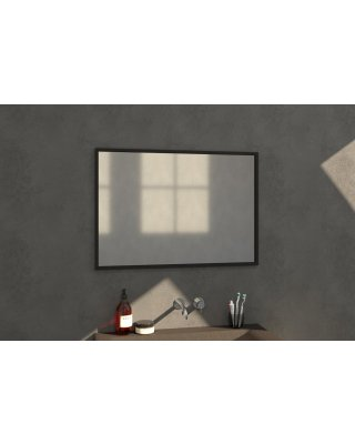 Swiss Silhouette 100 spiegel 99x70cm zwart aluminium