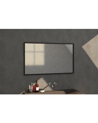 Swiss Silhouette 120 spiegel 118x70cm zwart aluminium