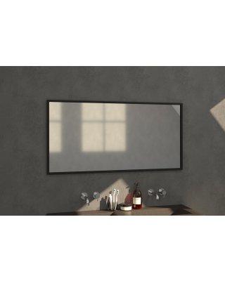 Swiss Silhouette 140 spiegel 139x70cm zwart aluminium