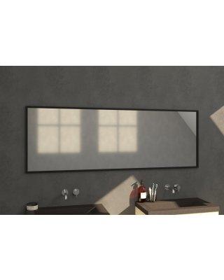 Swiss Silhouette 200 spiegel 199x70cm zwart aluminium
