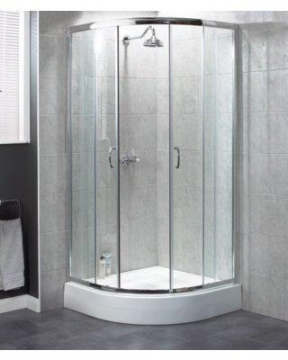 Aqualux Shine kwartrond 80x80x185cm chroom