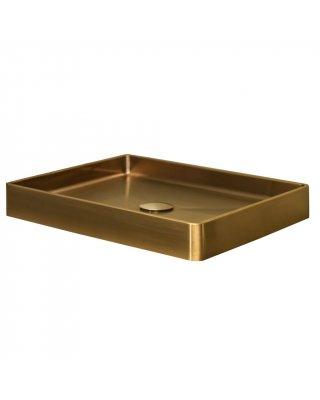 OPZETWASTAFEL LANESTO VANITY 52X41X7 CM -RVS Gold