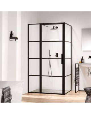 Zelf samenstellen deur en zijwand frame douchecabine Swiss