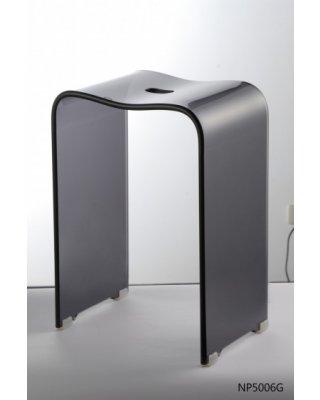 Douchekruk acryl grijs WO5006G