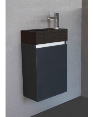 Toiletmeubel Emma Stone Hoogglans antraciet