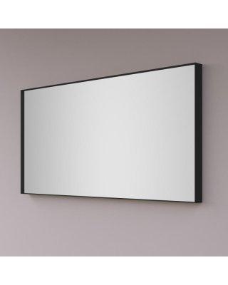 HIPP spiegel rechthoekig op mat zwart INDUSTRIEEL metalen frame