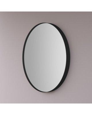Hipp spiegel rond op mat zwart INDUSTRIEEL metalen frame