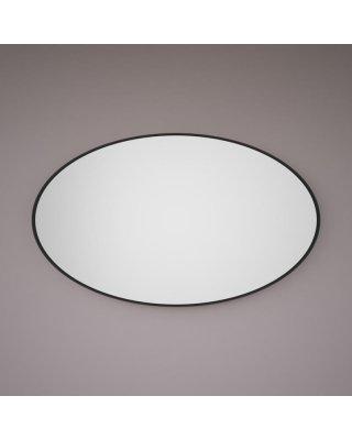 HIPP SPV 8500 BLI spiegel ovaal op mat zwart INDUSTRIEEL metalen frame