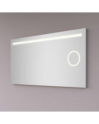 Hipp Design SPV 6000 spiegel 100x60cm met 1 horizontale LED baan, vergrootspiegel en spiegelverwarming