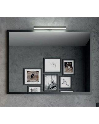 Vince 80x60cm spiegel met zwart aluminium frame