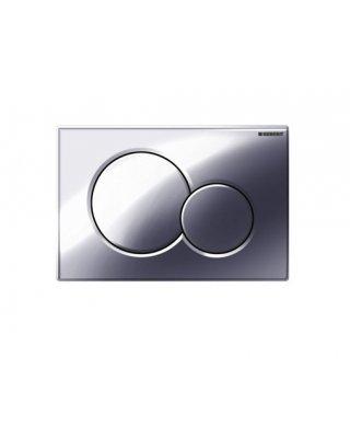 Geberit Sigma01 bedieningsplaat dubbel 2 knops voor UP300 320 / 700 720 8cm en 750 75cm glans verchroomd