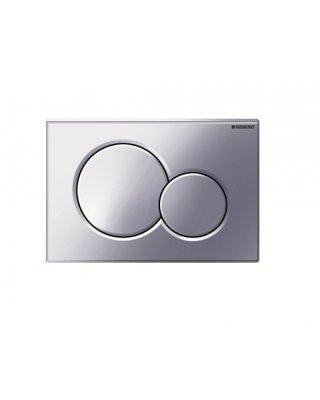 Geberit Sigma01 bedieningsplaat dubbel 2 knops voor UP300 320 / 700 720 8cm en 750 75cm mat verchroomd