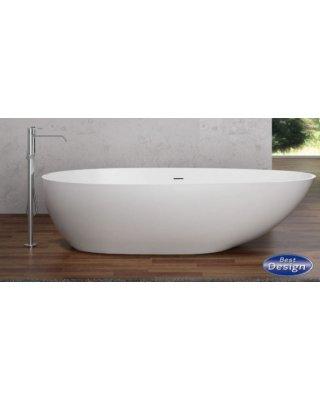 Solid vrijstaand bad Puur 180x90x58cm glans