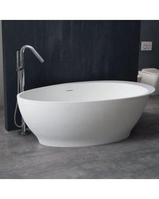 StoneArt Vrijstaand Badkuip BS-516 wit 180x104 mat of glanzend wit