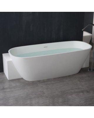 STONEART Vrijstaand Badkuip BS-529 wit 185x81 mat of glanzend wit