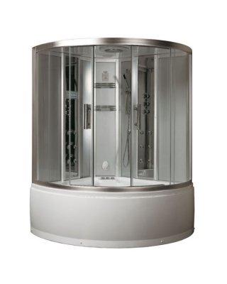 EAGO Stoom douche cabine met whirlpool bad DA324HF3 zilver 150x150