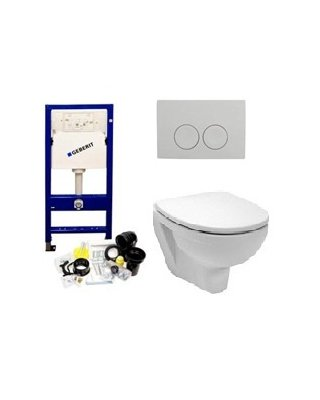 HB Design Toilet set COMPLEET, closet, zitting, reservoir en drukknop