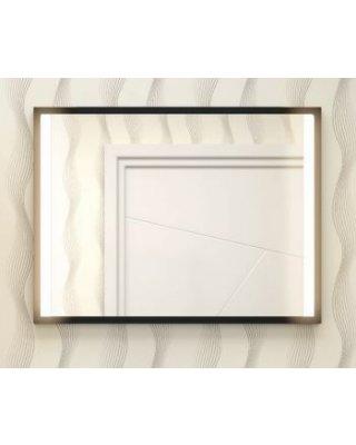 Vince 80x60cm spiegel met verlichting en zwart frame