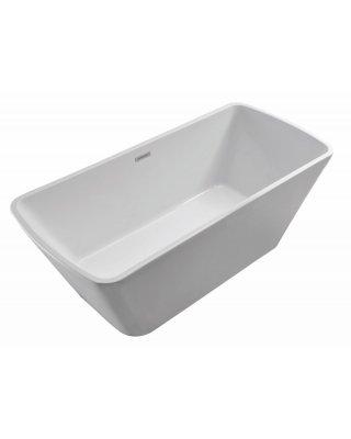 Wiesbaden Larx vrijstaand bad 170x80 vierkant acryl met waste wit
