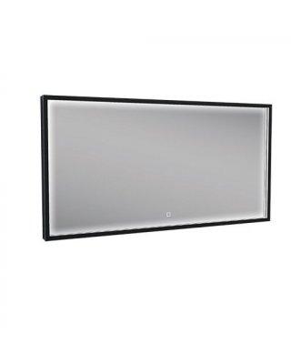 Square LED spiegel mat zwart met spiegelverwarming