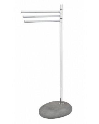WO19493 - Handdoekstandaard Pebble Stone grijs