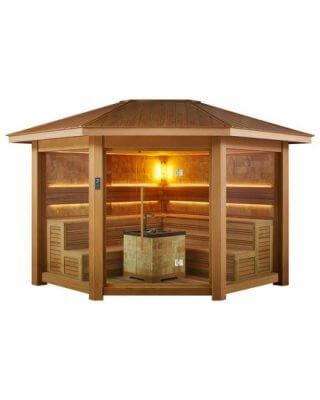 EO-SPA Sauna LT1501B red cedar 300x300 10.8kW Vitra