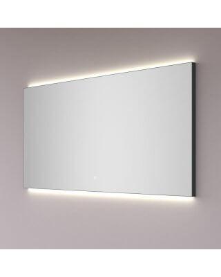 HIPP DESIGN spiegel in MAT ZWART met indirecte LED verlichting boven en onder